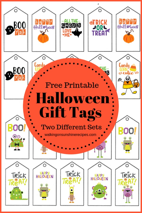 Printable Halloween Gift Tags Walking On Sunshine Recipes