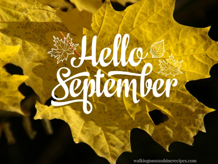Hello September with new free printables