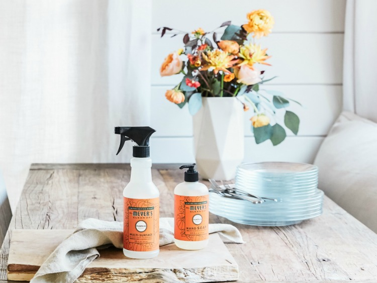 Prepare your home for Fall with these cleaning products from Mrs. Meyers.