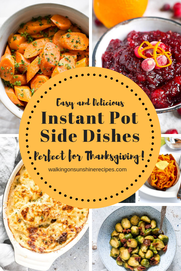 Thanksgiving Instant Pot Side Dishes