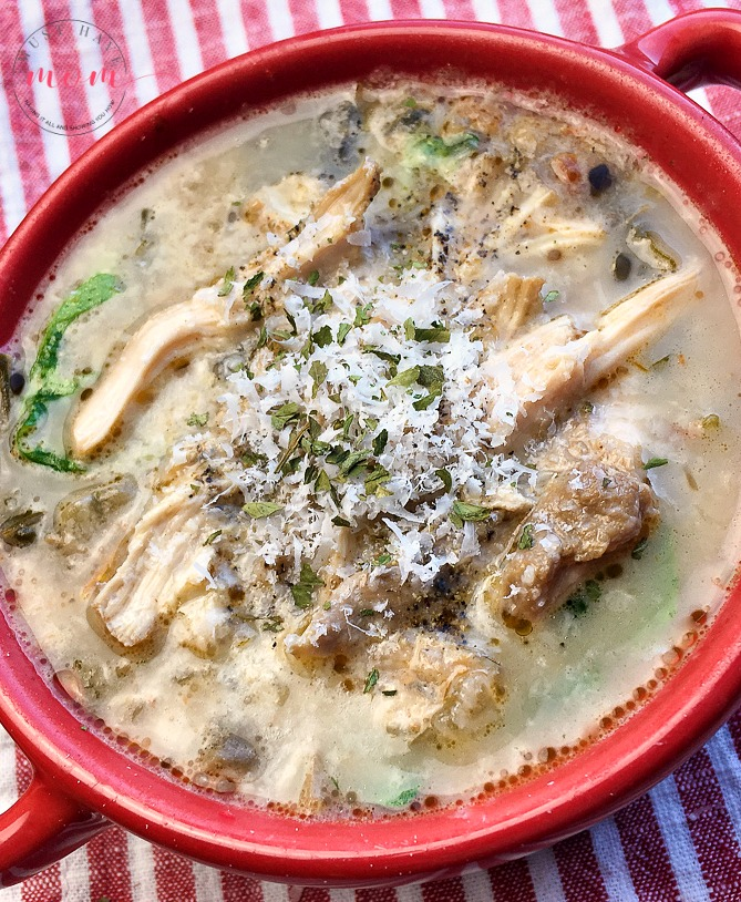 Chicken Florentine Soup Recipe from Must Have Mom