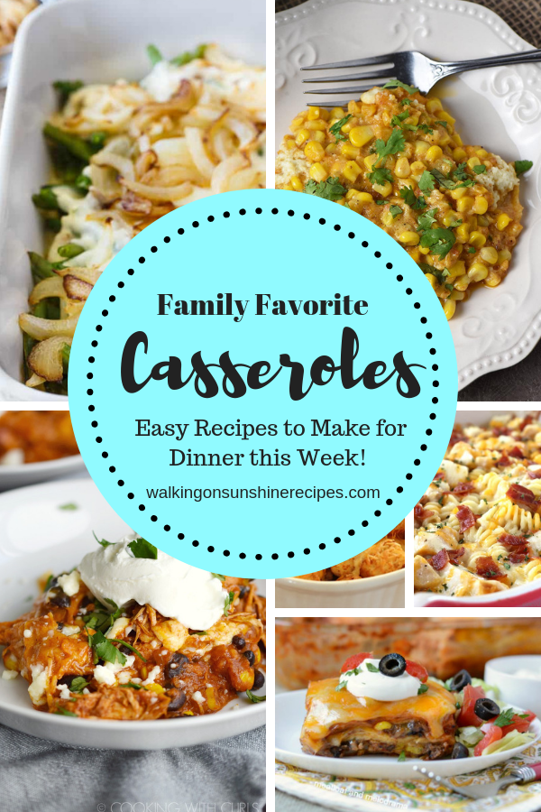 Family Favorite Casseroles that are easy and delicious are featured this week with our Delicious Dishes Recipe Party #135.