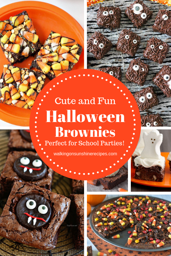 Cute Halloween Brownies that are delicious and even just a little bit scary to make for your family.