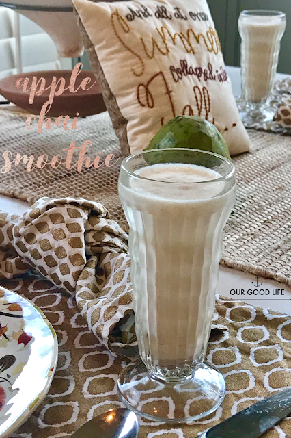 Apple Chai Smoothie from Our Good Life