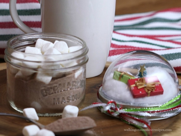 Mason Jar Hot Chocolate Snow Globe