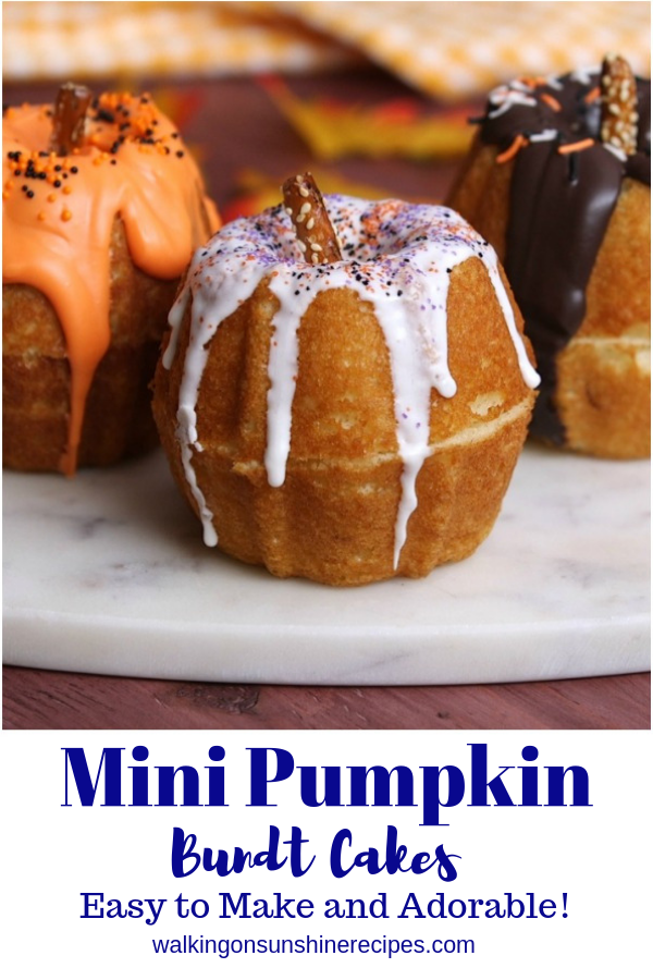 Mini Pumpkin Bundt Cakes.
