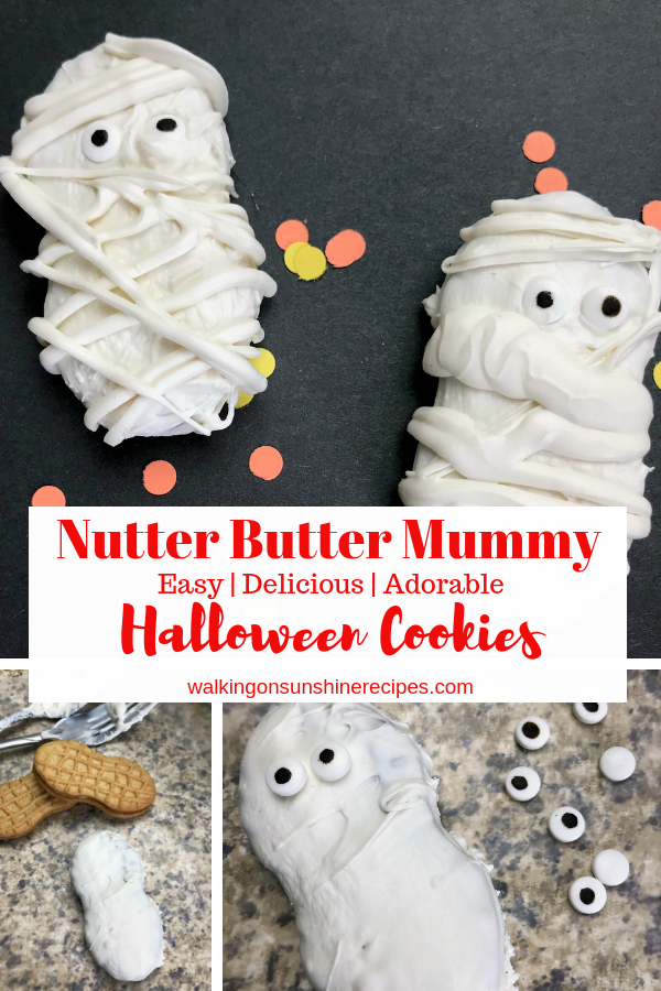 Nutter Butter Mummy Cookies are perfect treat for Halloween with easy instructions to follow.