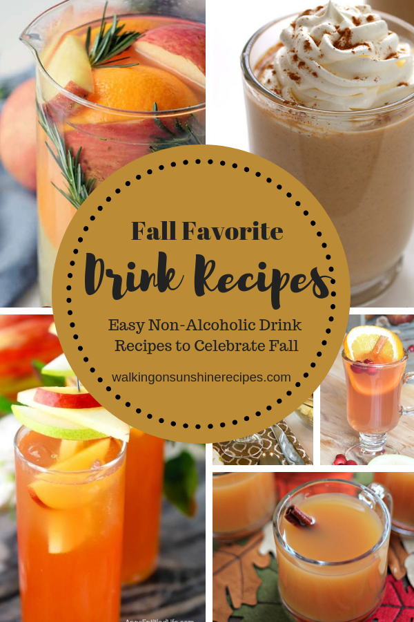 Non-Alcoholic Drinks that are perfect for Fall Celebrations are featured this week with our Delicious Dishes Recipe Party!