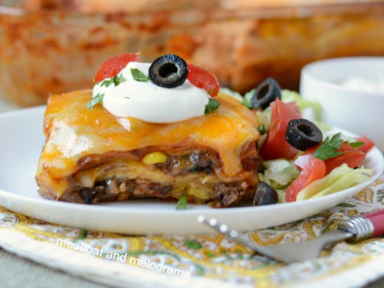 Southwest Lasagna from Meatloaf and Melodrama