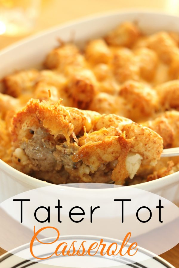 Tater Tot Casserole from Clever Housewife
