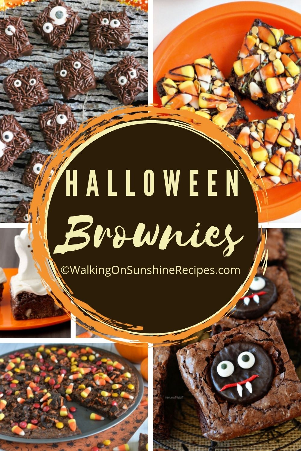 12 different brownies perfect for Halloween.