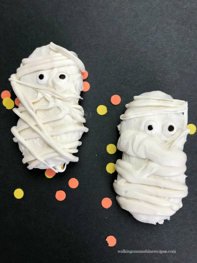 Nutter Butter Mummy Cookies are perfect treat for Halloween.