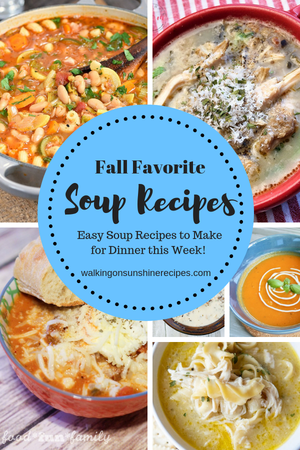 This week we are featuring Best Fall Soup Recipes from last week's party.  These recipes are so hearty they could really be a meal for dinner one night this week!