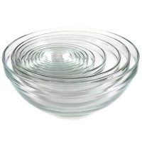 10 Pc Glass Nesting Mixing Bowls
