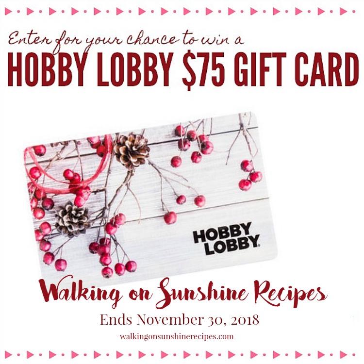 Hobby Lobby $75 Gift Card