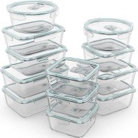 24 Piece Glass Food Storage Containers w/Airtight Lids