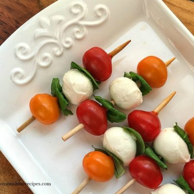 Caprese Antipasto Skewers – An Easy Appetizer