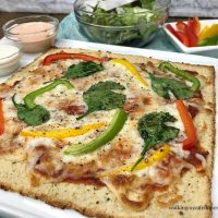 Easy Low Carb Cauliflower Pizza Crust