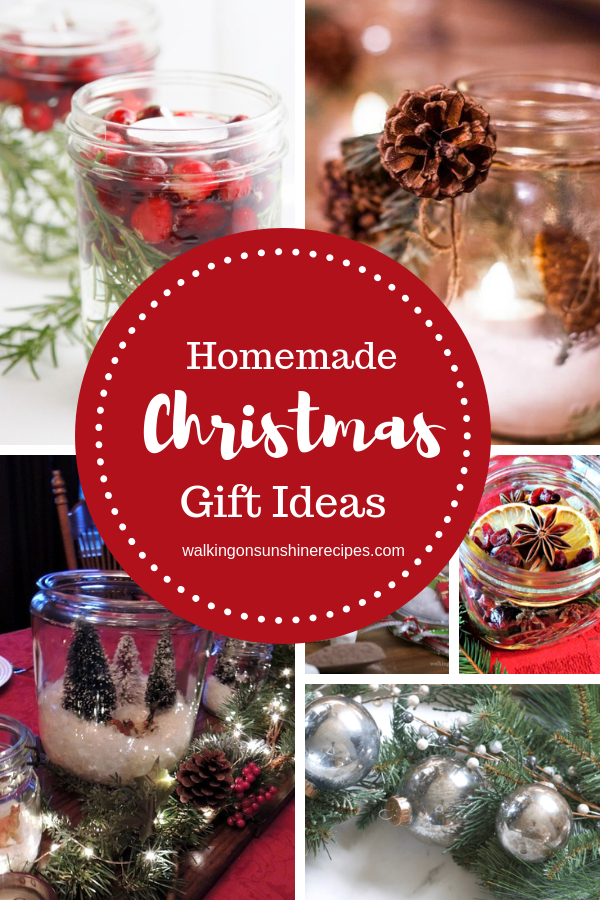 10 Christmas Homemade Gift Ideas to help us all get a jump start on the holiday season along with a $75 Hobby Lobby Giveaway!