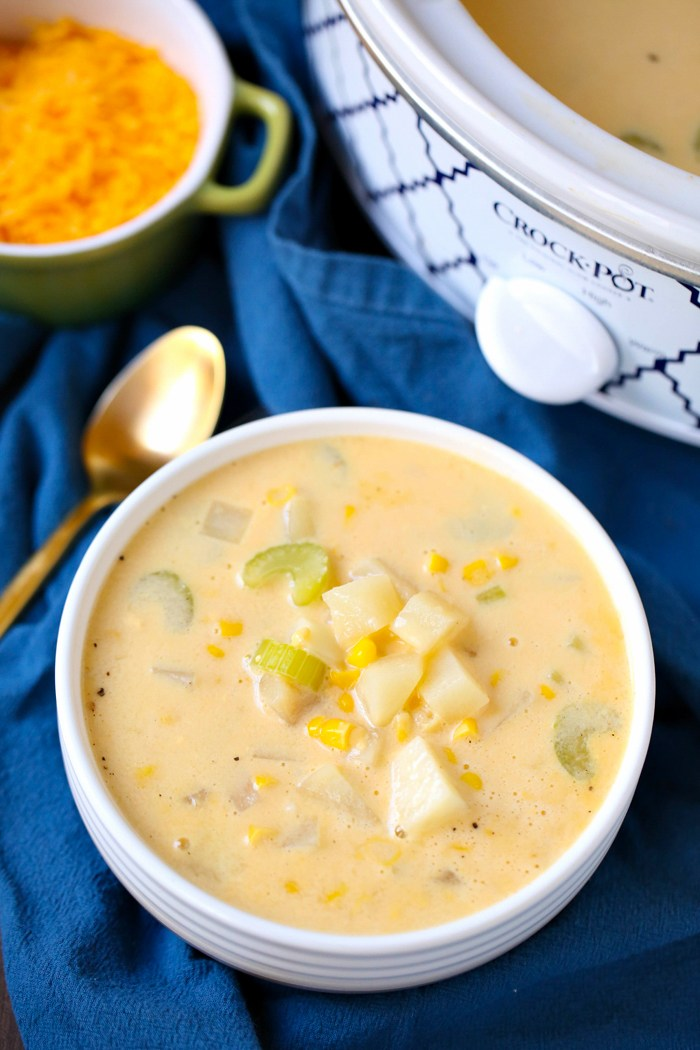 Easy Slow Cooker Potato Soup from April Go Lightly