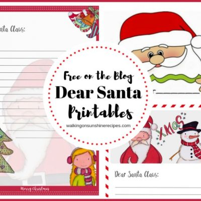 Dear Santa Printable for Christmas – FREE