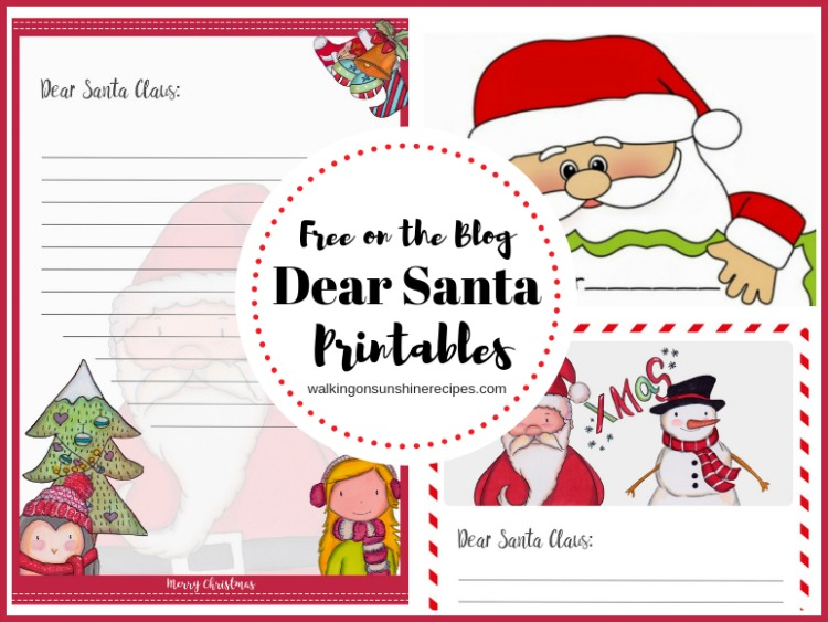 Dear Santa Printable for Christmas that your children or grandchildren can use to write and send letters to Santa this holiday season.