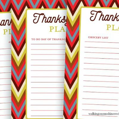 Thanksgiving Planner Printables – FREE Printable