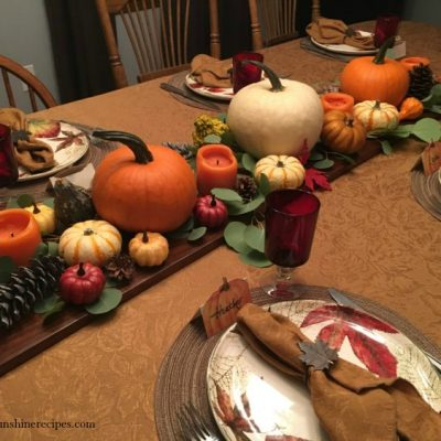 Easy Last Minute Tips for Decorating the Thanksgiving Table