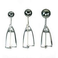 Stainless Steel Cookie Scoops, Set of 3
