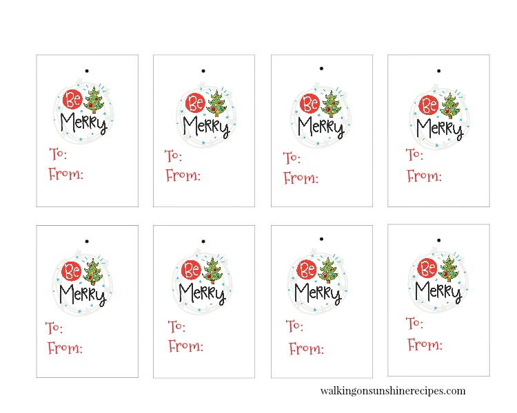 Be Merry Gift Tags are FREE for you to print and use in all your holiday and Christmas gift-giving this year!