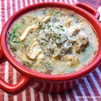 Instant Pot Chicken Mushroom Florentine Soup
