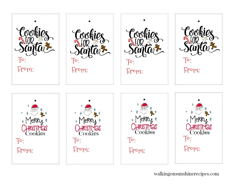 Free Printable Cookie Gift Tags