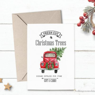 Christmas Truck Printable – 12 Days of Christmas Celebration