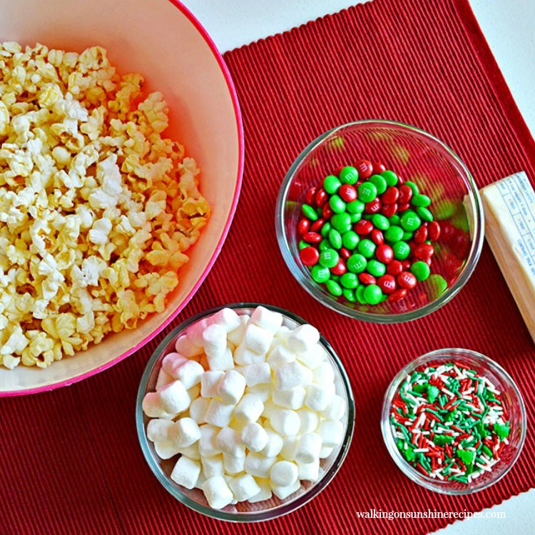 Ingredients for Sweet and Salty Candy Popcorn