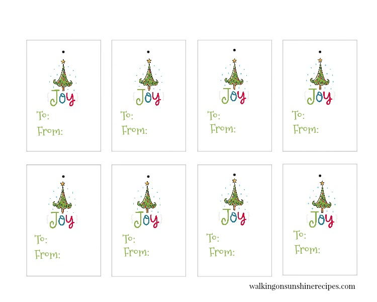Joy Gift Tags are FREE for you to print and use in all your holiday and Christmas gift-giving this year!