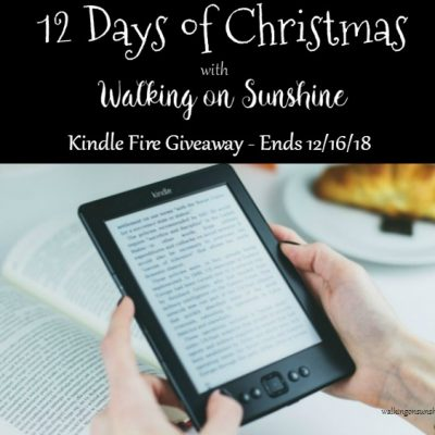 Kindle Fire Giveaway – 12 Days of Christmas Celebration