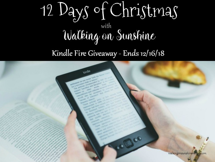 DAY #3 - Kindle Fire Giveaway - CLOSED