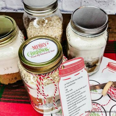 Mason Jar Cookie Mix Gift Ideas