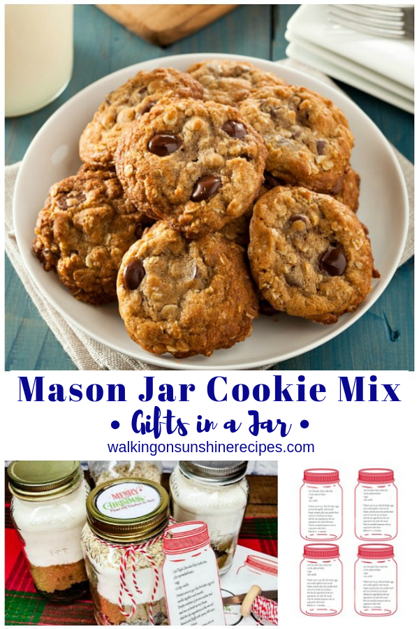 Mason Jar Cookie Mix Gift Ideas along with printable recipe cards and labels are all you need to create these fun gifts for family and friends this holiday season!