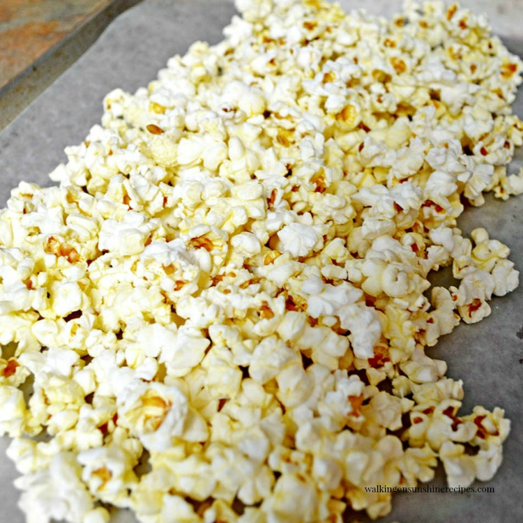 Popcorn on Baking Tray