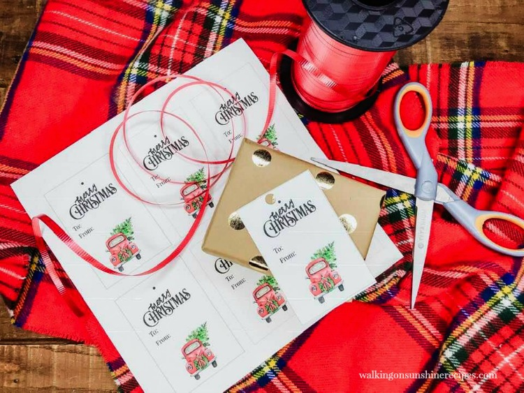 Red Truck Christmas Gift Tags from Walking on Sunshine Recipes