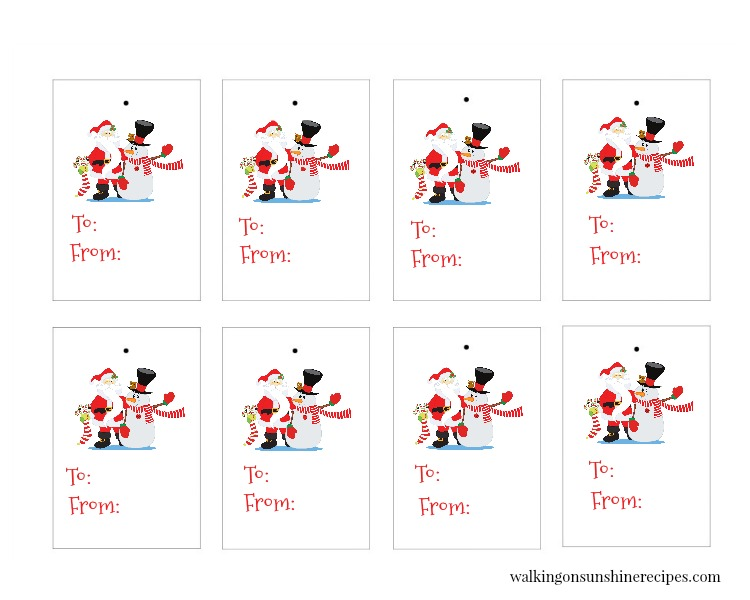 Santa and Snowman Gift Tags are FREE for you to print and use in all your holiday and Christmas gift-giving this year!