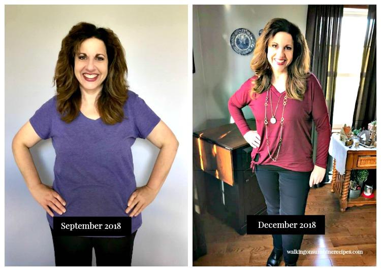 September 2018 to December 2018 weight loss