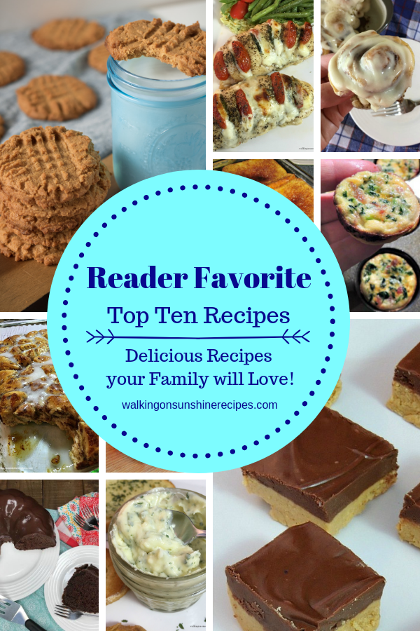 Let's celebrate the new year with taking a look back at your favorite Top Ten Recipes from the blog with a fun video too!