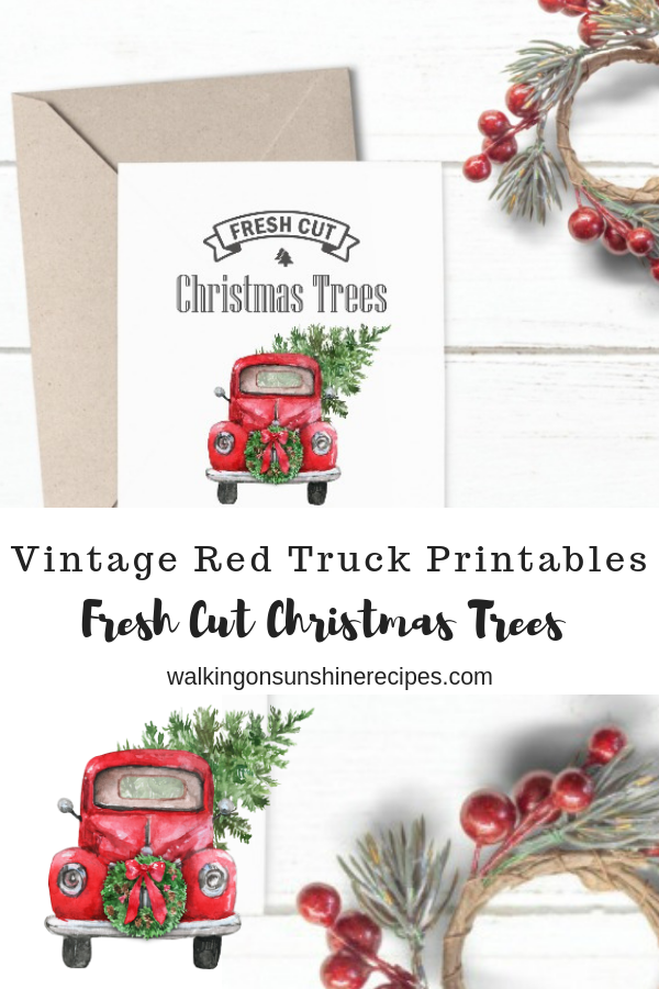 Christmas Truck Printable is perfect for all your holiday decorating needs.