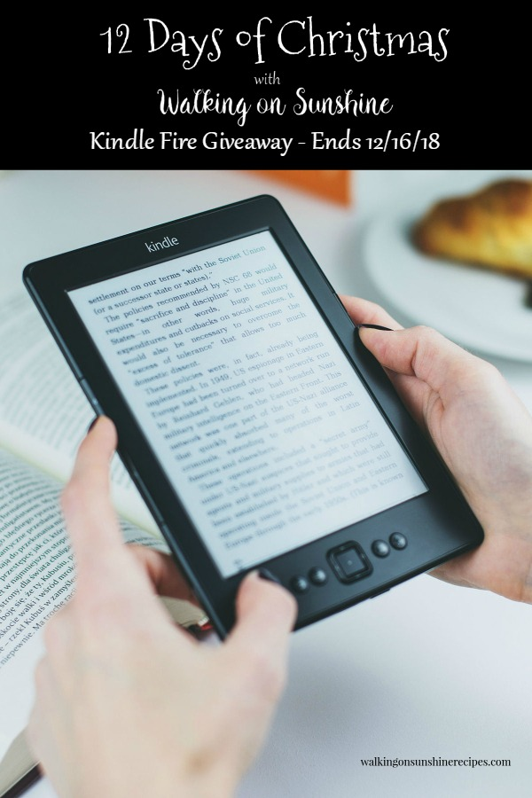 Kindle Fire Giveaway is part of our 12 Days of Christmas Celebration!