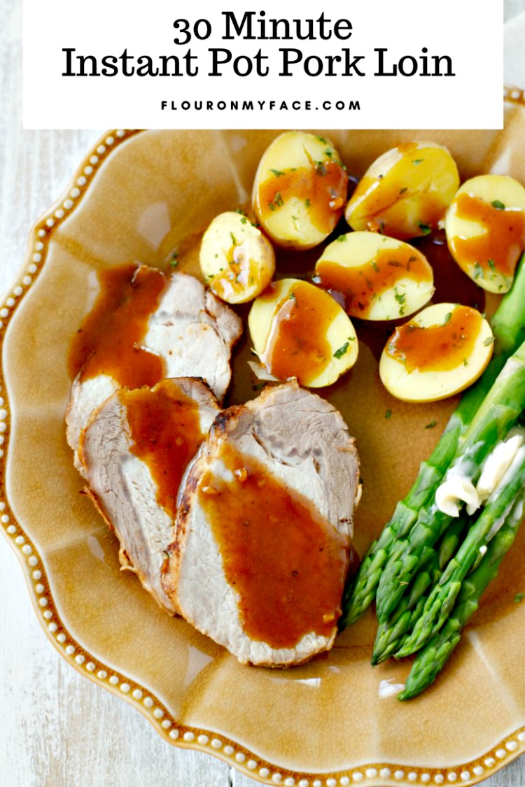 30 Minute Instant Pot Honey Garlic Pork Tenderloin from Flour on My Face