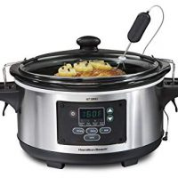 Hamilton Beach 6-Quart Programmable Slow Cooker, Stainless Steel