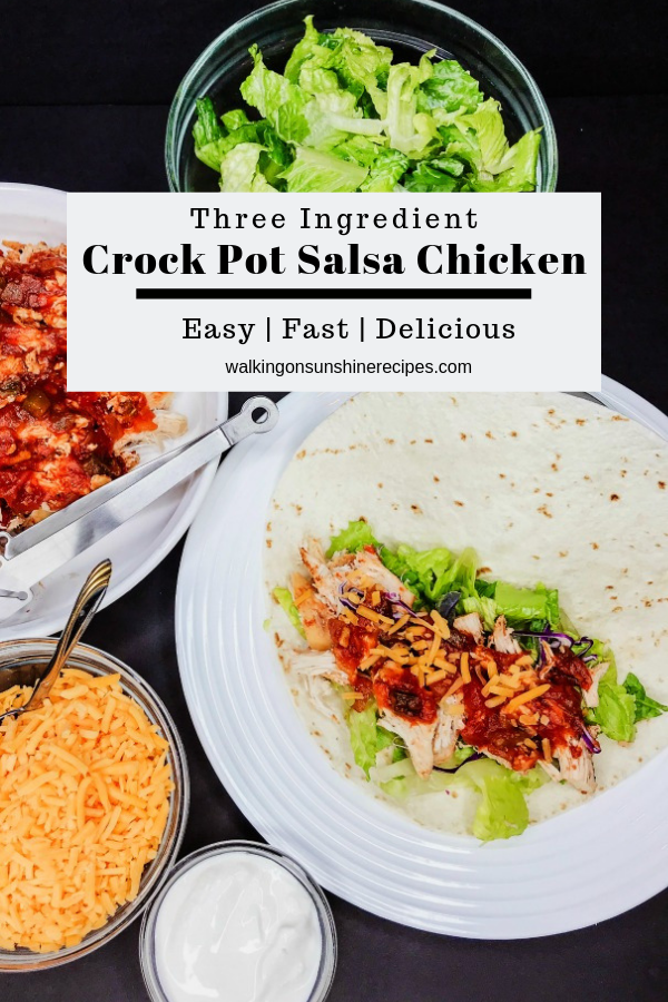 3 Ingredient Crock Pot Salsa Chicken Recipe
