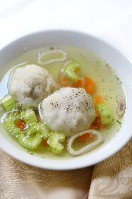 Easy Gluten Free Vegan Matzo Ball Soup from Strength and Sunshine
